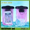 pvc plastic mobile phone waterproof bag