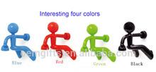 Promotion Creative Plastic Cute Magnet climbing Man Key Holders/Super hero/Four colors