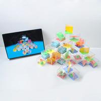 24 grains 4CM plastic mini magic cube