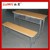 Double bench desk and chair,classroom furniture