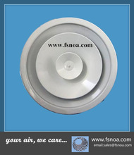 aluminum round high ceiling diffuser with removable core and adjustable diffusion rings