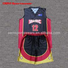 Sports team wear customize basketball uniform image