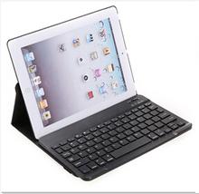 Leather keyboard for ipad 2/3/4 Bluetooth keyboard with PU case