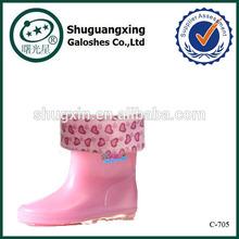half wellington kids rain boots winter/ C-705