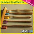 Ec tuv lga ücretsiz örnek oem 100% biyobozunur promosyon tek otel bambu diş fırçası