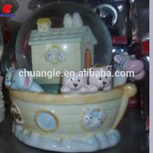 New Design Cute Water Ball Globe , Fashion Snow Ball Globe Decoration Craft