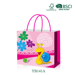 Plastic handle gift package decorative reusable shopping bag
