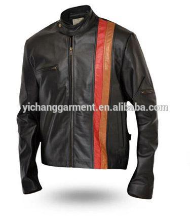 การออกแบบใหม่ของแท้แกะเสื้อหนังรถจักรยานยนต์ที่ทำในจีนกับykkซิป