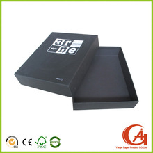 Custom Black Cardboard Two-piece Fold Up Shirt Boxes