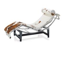 Le Corbusier Chaise Lounge Chair Cow Hide