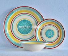new China 12pcs ceramic dinnerware for sale, cheap stoneware tableware set