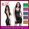 2014 fashionable fancy dresses black women feather sleeveless o neck dress, girl party dress, cheapest bodycon dress