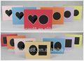 Personalizado coração duplo de ácido- livre matboard/cartão de papel photo frame de retrato