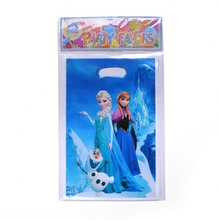 Frozen party decoration printed plastic gift bags