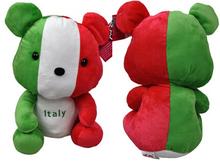 Football Plush Stuffed Sitting Bear National Flag Toys Football Gift