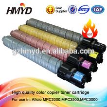 TYPE MPC3000 copier Compatible color toner cartridge for Aficio MPC2000 MPC2500 MPC3000