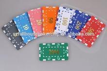 rectangular chip for hot stamp poker chip