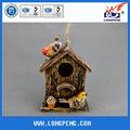Polyresin artificial de nido de pájaro, casa del pájaro
