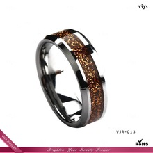 2014 Latest Fashion Jewelry Wedding Band Ring 6mm 8mm 12mm tungsten carbide ring multi-color rainbow ring Manufacturer