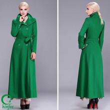 SWC007 China Woolen Double Breasted Women Winter Maxi Coats