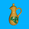 Ceramic Oil Bottle YELLOW AND GREEN