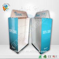 customized artwork printed glossy cardboard hanging product rack display,floor standing pop up display with peg hooks