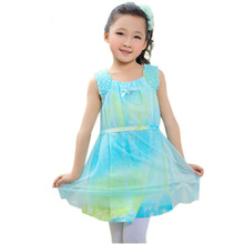 wholesale China supplier sleeveless frock designs baby girls casual dress for 2014