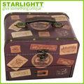 antiguos de madera nuevo diseño decorativos de cuero caja de joyería