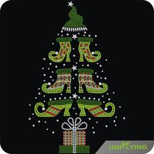 Beautiful Christmas tree rhinestone new custom design for Christmas gift
