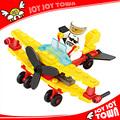 Los niños regalo de día de bloque de construcción de ladrillos de juguete avión de bricolaje juguetes de la educación puzzles/rompecabezas montado de juguete de plástico plano 6410