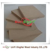 Linyi suneast/preço painéis de média densidade/raw mdf liso