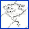 2014 el mejor acero inoxidable de la moda de oro de la religión por rosario proveedor superior de china