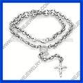 in acciaio inox 2014 fashion religione rosario fatto a mano ultimo stile fabbrica di porcellana