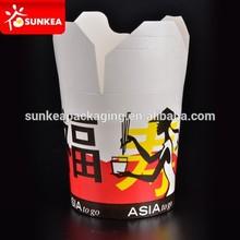 Paper noodle cup, logo print