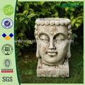 """13"""" novetly design antique bouddha face à la tête des pots de fleurs"""
