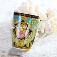 14OZ Luxury Ceramic Mug White Porcelain of Sea Goddness