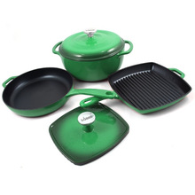 SGS qualified enamel cast iron cookware