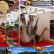 My-dino life size three headed giant dragon statues