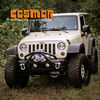 COS49131-Double X Striker Steel textured black front Bumper for Jeep Wrangler 2007+-Current