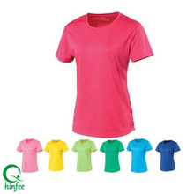 SWT017 China Wholesale Women Running Dry Fit Sports T Shirt