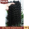 6a de alta calidad baratos brasileño cabello tejido 100% virgen cabello humano tejer diferentes tipos de tejido rizado del pelo
