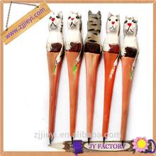 new design promotion wooden animal carved ballpoint pen