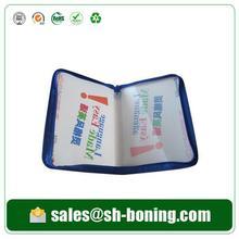 Hot selling office stationery zipper box file /zipper file bag