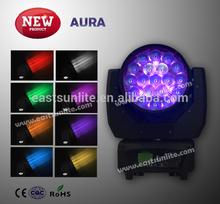 Newest!! Mac aura 19pcs 12w led moving head stage light/ white aura/aura scanner