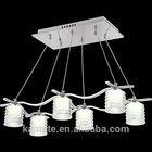 Modern led acrylic chandelier light and 6 light stainless steel led light