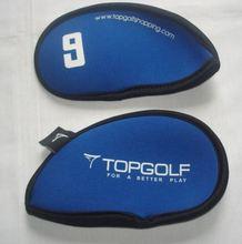 Golf Head Cover Club Iron Putter Head Protector Set Neoprene Black