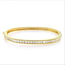Most Popular Gold Bnagle Channel Setting Elegant Bracelet