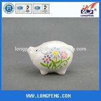 Novelty Ceramic White Piggy Coin Banks ,Ceramic Mney Box for Kids