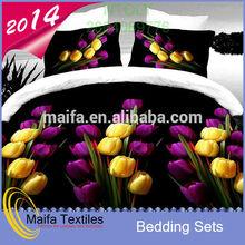 2015 hot sale 100% polyester handmade bed sheets design