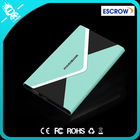 2014 Colorful slim leather envelope mobile power supply 4000mah